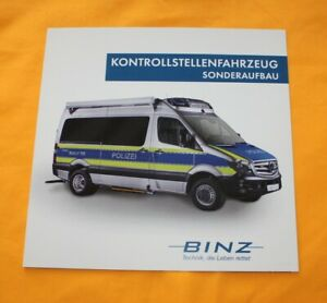 Mercedes Sprinter Binz Kontroll Prospekt Brochure Depliant Catalog Folder
