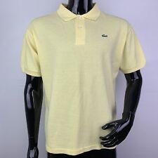 Lacoste Mens Medium Yellow 100% Cotton Short Sleeve Polo Shirt