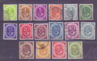 Bund 1951 - Posthorn - MiNr. 123/138 rund gestempelt - Michel 50,00 € (100)
