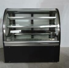 Techtongda 220V Commercial Refrigerated Cake Showcase 36 Inch Glass Display Case