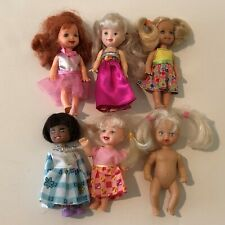 "Lot of Vintage Dolls Barbie Little Sister Kelly Giochi Preziosi Others 4"" to 5"""