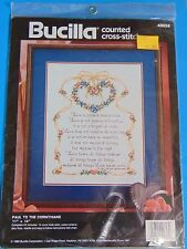 Bucilla 40658 Paul To The Corinthians Counted Cross Stitch Retired 1992 Sealed