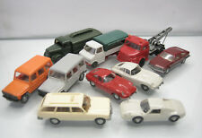 Big Lot of 10 Wiking Plastic HO Cars 1/87 Mercedes/Jaguar/Porsche/Opel
