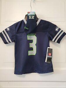 NEW NFL Team Apparel Seattle Seahawks Russell Wilson Jersey toddler/Sock SZ 4T