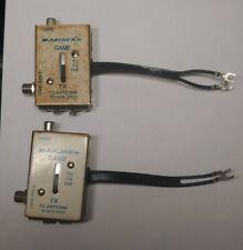 2 Archer Vintage Atari 2600 Antenna Switch Box RF Adapter Game TV