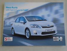 Toyota auris hybrid synergy drive gamme brochure oct 2010