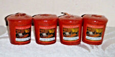 Yankee Candle Autumn in the Park scented votives lot 4 new red wax