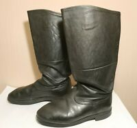 Soviet Russian Military Uniform Officer Leather Boots Sapogi Size 43 USSR