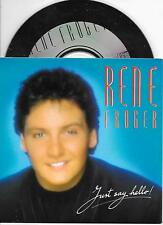 RENE FROGER - Just say hello! CD SINGLE 3TR Dutch Cardsleeve 1990 Europop