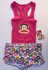 Paul Frank Pajama Set ~ Tank Top + Low Shorts ~ Women Small Julius Monkey Cotton