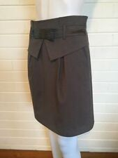 Regular Dry-clean Only Knee-Length Solid Skirts for Women