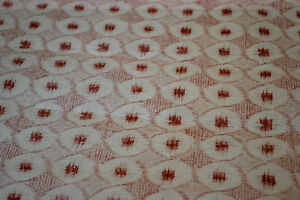 Japanese Cotton Crimson and White 095