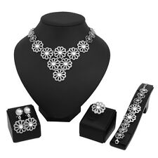 Fashion Necklace Earring Bracelet Ring Wedding Gold/Silver Plated Jewelry Sets