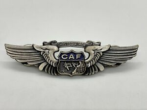 Confederate Commemorative Air Force CAF Ghost Squadron Pilot Wings 1939 1945 WW2