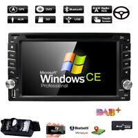 "6.2"" Double DIN Dash Car Radio Stereo GPS Head Unit SAT NAV DVD DAB USB UK MAP"