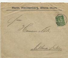 Infla Brief mit 100 Pfg Arbeiter (167) EF, Altona 1922