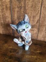 """Vintage retro Foreign made china kitch 5"""" china cat"""