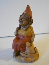 "Nos Vtg Tom Clark Gnome ""Bonnie"" '84, Ed #86 Gnome Sitting on a Seashell Unused!"