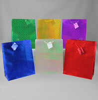 Hologram Gift Bags Large, 12 piece