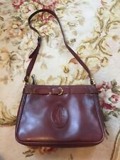 Cartier Handbag Leather Bordeaux Wine Red Used Vintage