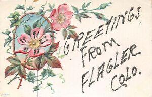 H72/ Flagler Colorado Postcard c1910 Glitter Greetings from Flagler  126