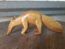 Vintage Hand Carved Aardvark Ant Eater Wooden Figurine Rodo Del Amazonas Peru