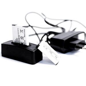 2 Akkus für HP R817xi + Ladestation + Netzladegerät