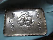 SUPERB  Antique Solid Silver Tray REYNOLDS CHERUBS Birm.1910  VGC DRESSING TABLE