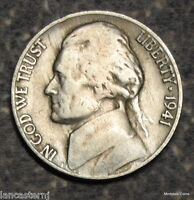 1941-S Jefferson Nickel (Circulated) Free Shipping Satisfaction Guaranteed