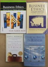 Business Ethics 4 book lot: Philosophy Ethical Practices Concepts Cases Issues