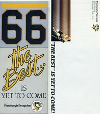 1985-86 Pittsburgh Penguins Mario Lemieux Season Ticket Brochure
