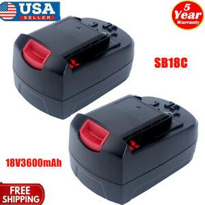 2X 3600mAh 18-Volt Ni-Mh Battery For SKIL SB18C SB18A SB18B Cordless power Tools