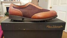 Allen Edmonds Dbl Eagle Classic Mens Golf Shoes New Brn 10.5D $345 Made in Usa