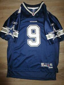 Tony Romo #9 Dallas Cowboys NFL Reebok sewn Jersey Youth L 14-16 child