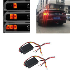 2 Pcs Car Turn Signal Light 3-Step Sequential Dynamic Chase Flash Module Boxes