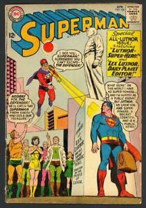 Superman #168 - John F. Kennedy Memorial - Curt Swan Cover & Art - DC 1964 VG+