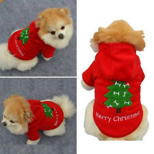 Pet Hoodie Christmas Clothes Puppy Dog Jacket Sweater Apparel Hooded Sweatshirt
