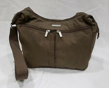 Baggallini Mushroom Brown Nylon Crossbody Hobo Cargo Purse