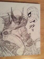 Signé Dessiné par John Romita Jr The Marvel Art Of John Romita Jr HC COA + Photo