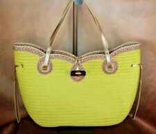 ERIC JAVITS WATUTI NEW LIME GREEN WITH SILVER ACCENTS, GORGEOUS HANDBAG $450 R