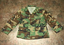 US Military ARMY Cotton Ripstop BDU FIELD JACKET COAT Woodland MEDIUM / LONG VCG