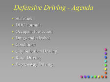230 page MILITARY DEFENSIVE DRIVING PowerPoint Presentation on CD