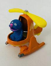 Sesame Street 1981 '82 DIECAST CAR Grover helicopter Muppets Metal Orange Vtg