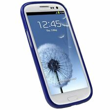Blue TPU Rubber Skin Case Cover Accessory for Samsung Galaxy S3 S III i9300 New