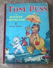 VTG Tom Puss In Nursery Rhymeland Marten Toonder 1948 Colour Plates Marks & Spen