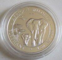 Somalia 100 Shillings 2015 Elefant 1 Oz Silber