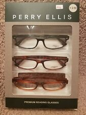 4be8b32478b Perry Ellis Mens 3 Pack Reading Glasses PER 24 -1 2 3 +