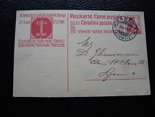 SUISSE - carte entier 3/8/1913 (cy90) switzerland