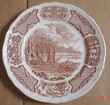 Alfred Meakin Plate FAIR WINDS - THE GEORGE WASHINGTON AT ANCHOR