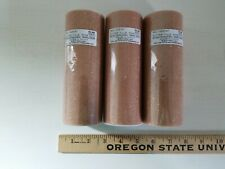 """New LOT OF 3 Spools of Glitter Tulle Rolls Net Fabric 6"""" x 12 yds each ROSE GOLD"""